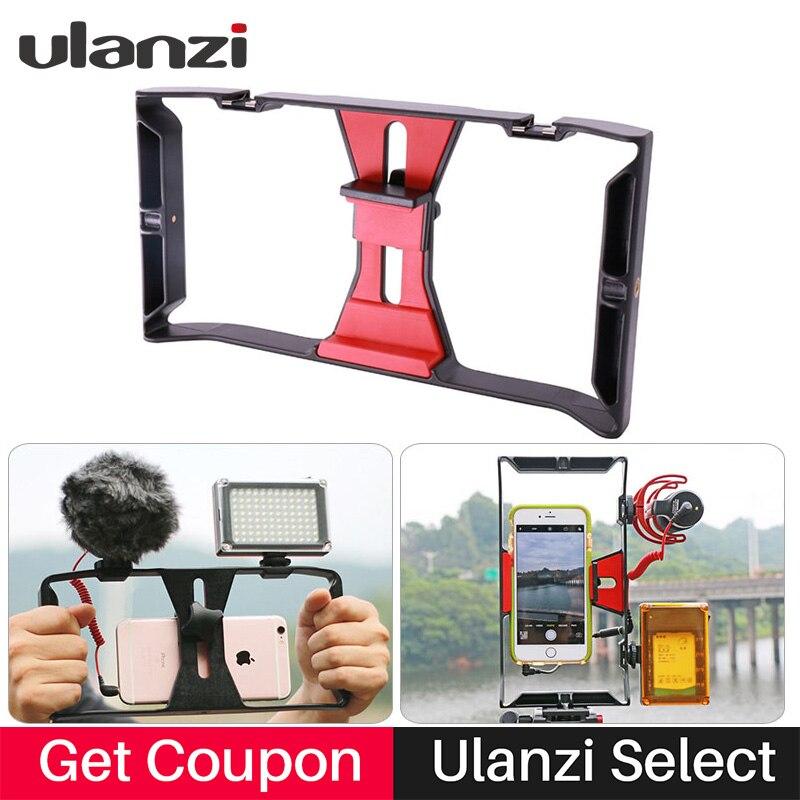Ulanzi Handheld Smartphone Video Rig Fall für iPhone X Samsung, Telefon Rig Stabilizer für Live-stream Youtube Filmausrüstung Vlogger