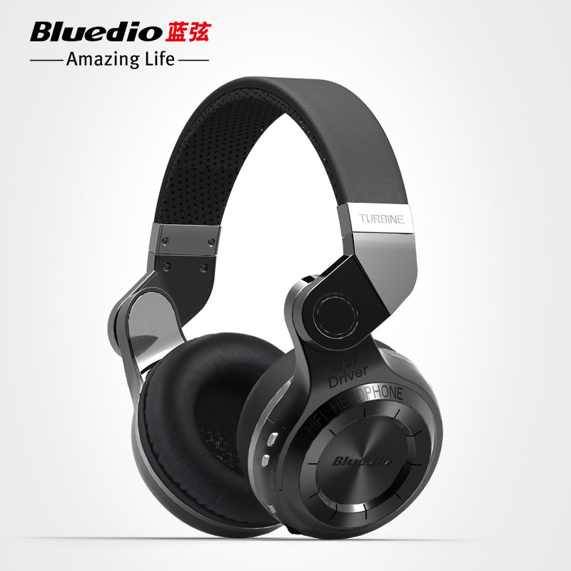 Original Fashion Bluedio T2 Turbo Wireless Bluetooth 4.1 Stereo Headphone Noise canceling Headset with Mic High Bass Quality bluedio h bluetooth headphone stereo wireless earphones built in mic micro sd fm radio over ear noise canceling hifi headset