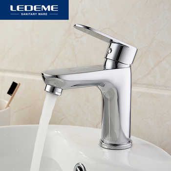 LEDEME Basin Faucets Water Tap Cold And Hot Love HandleBathroom Faucets Bottom Horizontal Basin Chrome Faucet L1010 - DISCOUNT ITEM  45% OFF All Category