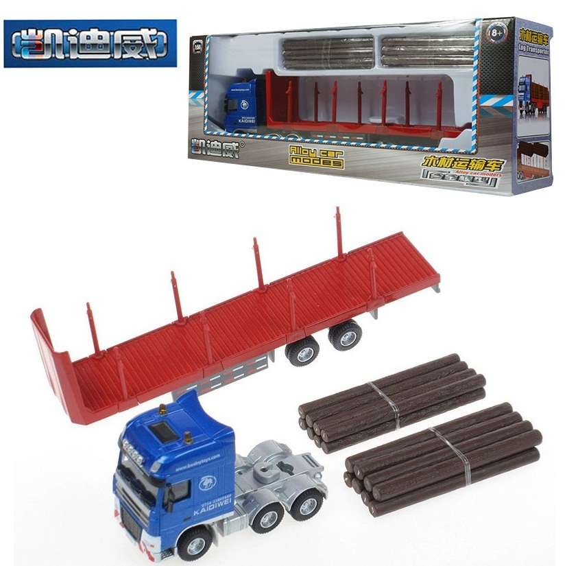KDW Alloy engineering vehicle model 1 50 Timber transport vehicle truck metalwork toys for children car