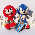 "2pcs/set Cartoon Sonic the hedgehog Plush Toys 7""18cm Sonic & Knuckles the Echidna Stuffed Plush Toys Free Shipping"