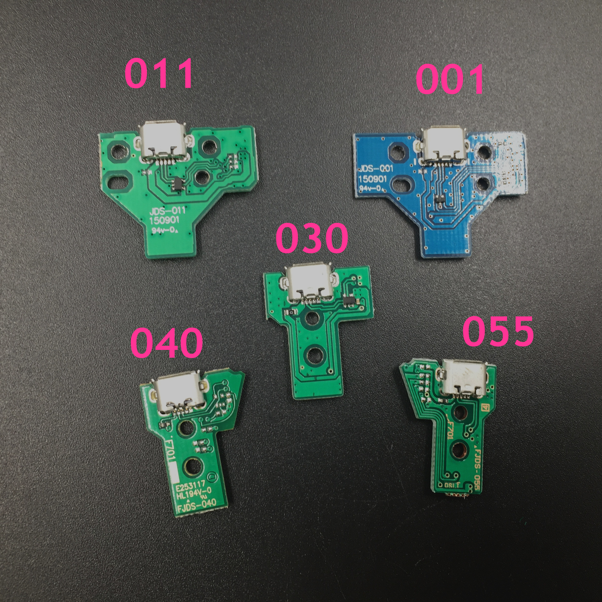 200pcs Wholesale Price for PS4 Controller Charging Board Socket 001 011 030 040 055 for Playstation
