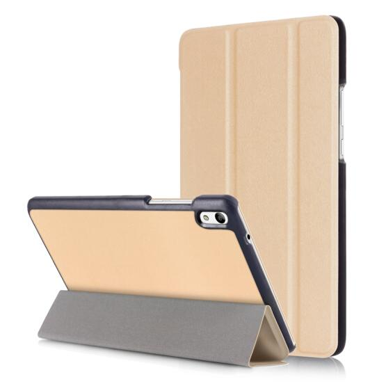 For Huawei Mediapad T5 10 July 10.1 Inch Tablet Case Custer Tri 3 Fold Folio Stand Bracket Flip Leather Cover