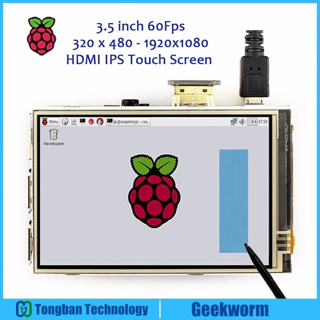פטל Pi 4 60FPS 3.5 אינץ מגע מסך 320x480 1920x1080 OSD HDMI IPS תצוגה עבור פטל Pi 4 דגם B/3B +/3B/2B/אפס W
