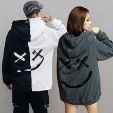 MarKyi 2019 fashion smile print men hoodies sweatshirts long sleeve streetwear luxury