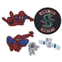 New Snake Space Astronaut Planet Character Embroidered Patches Sewing Iron On Badge For Bag Jeans Hat Appliques DIY
