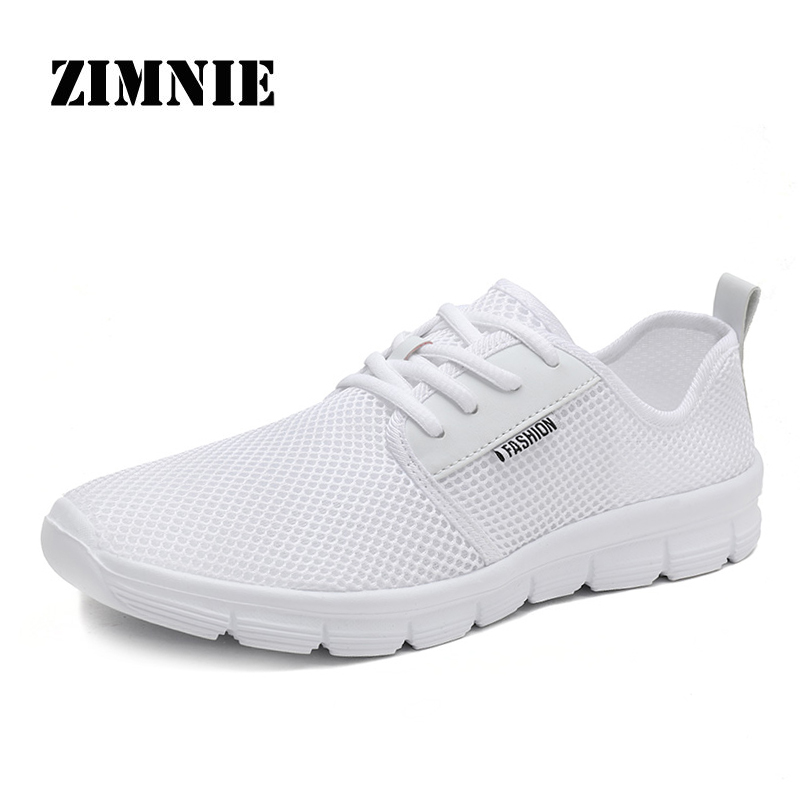 ZIMNIE Brand 2020 Hot Sell Mesh Men Fashion Casual Shoes Lace-up Men Shoes Lightweight Comfortable Breathable Driving Sneakers 1