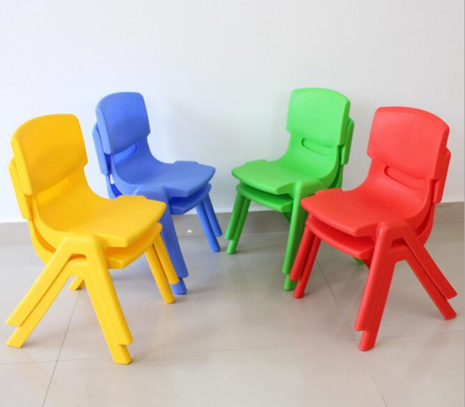 24cm Seat Height  Kindergarten Chairs Safety Thicken Small Stool For 1-2 Years Children