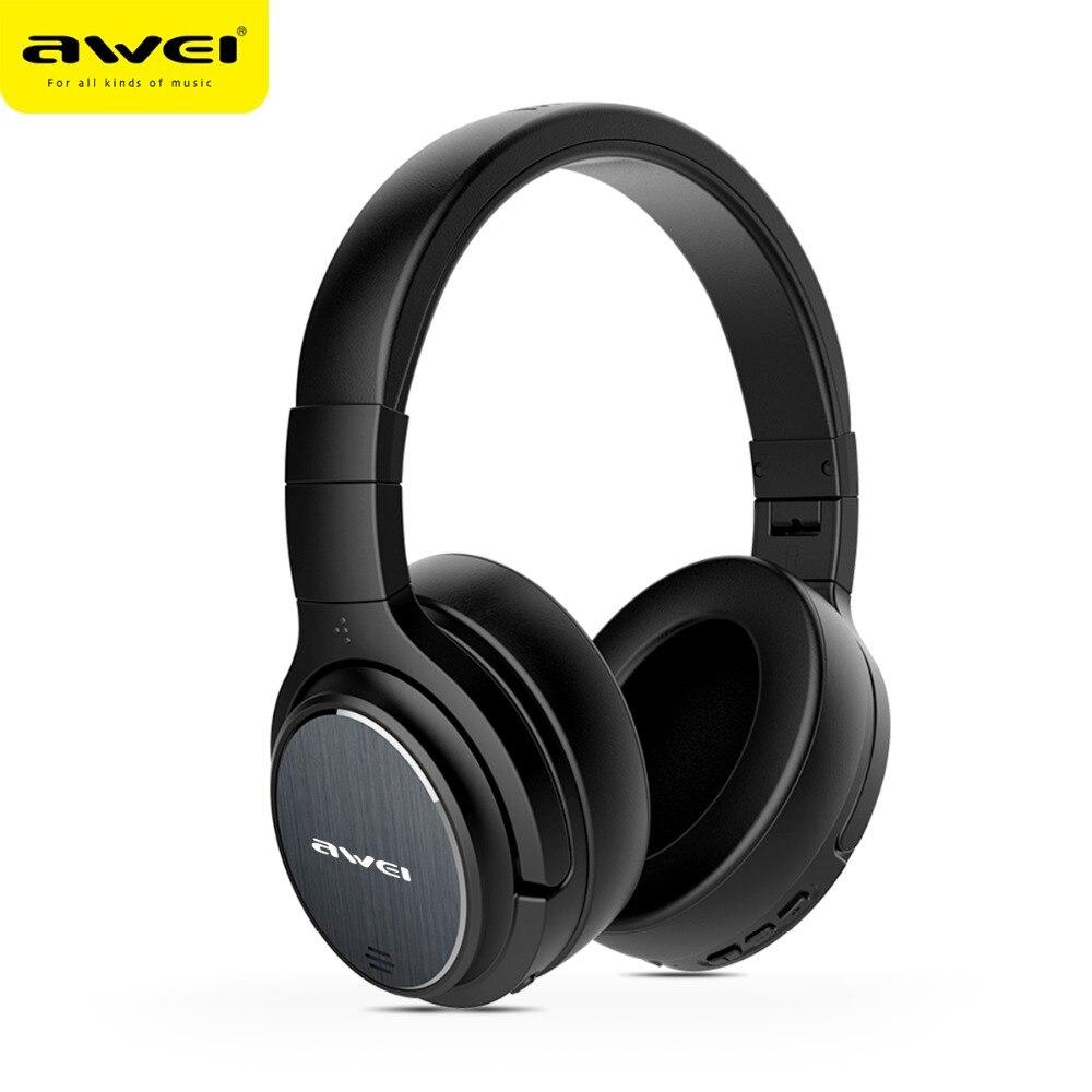 AWEI A950BL Casque sans fil Bluetooth écouteur actif suppression de bruit Casque de jeu stéréo avec micro Casque fone de ouvido