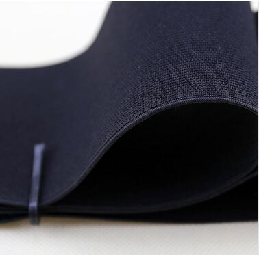 32MM White Black Colored Soft Knit Braided with High elastic Webbing Band For Sewing Garment Accessories
