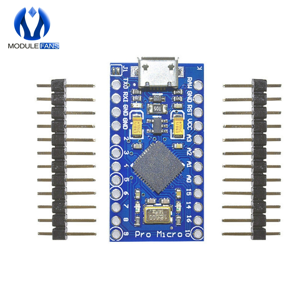 Pro Micro ATmega32U4 3.3V 16MHz Replace ATmega328 For Arduino Pro Mini With 2 Row Pin Header For Leonardo Mini Usb Interface