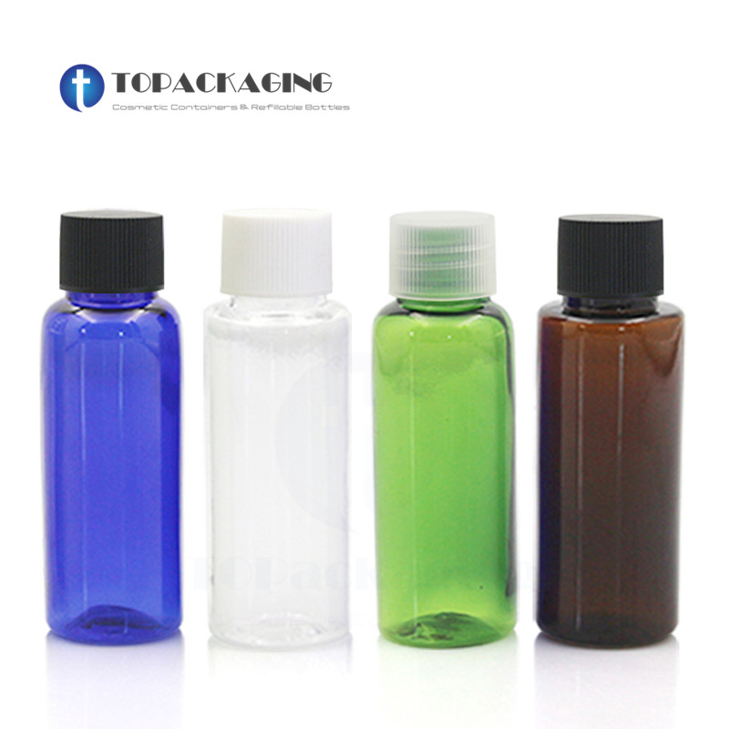 100PCS 20ml Screw Cap Bottle Empty Plastic Cosmetic Container Small Sample Lotion Essence Oil Makeup Shampoo