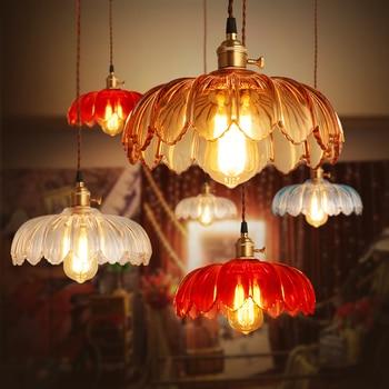 Europe pendant light metal ball glass vintage sitting room lamp bar dining cafe shop decoration LED light fixture AC110-265V