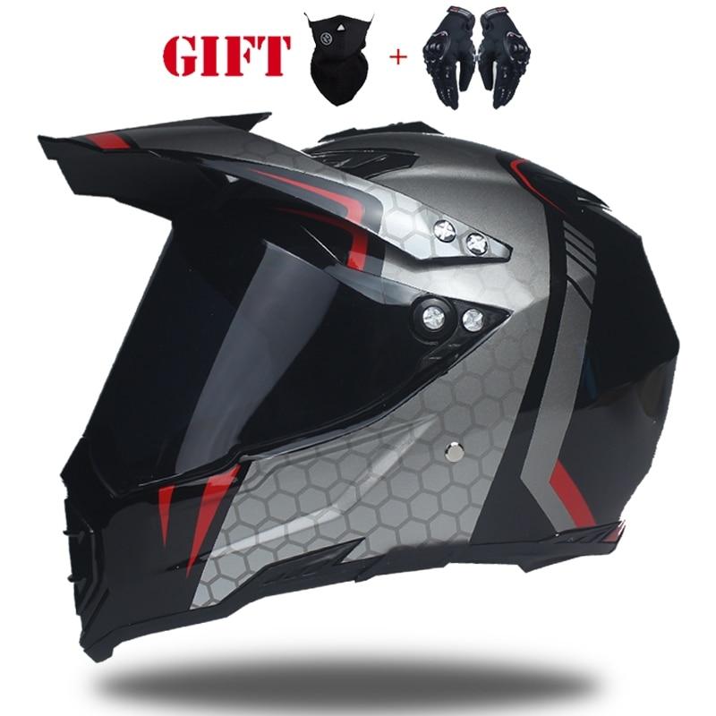 WLT professional motocross helmet adult full helmet casque moto cross with versatile off road helmets S