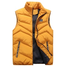 купить 2019 Men's Spring/Winter Vest Men Sleeveless Jackets Male Waistcoat Man Padded/Down Vests Outerwear Mens Warm Vest Coat BM257 дешево