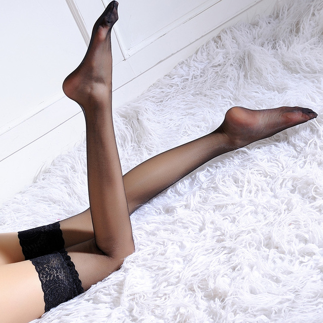 Women non-slip silicone stocking Thigh High women'sSilk Stockings