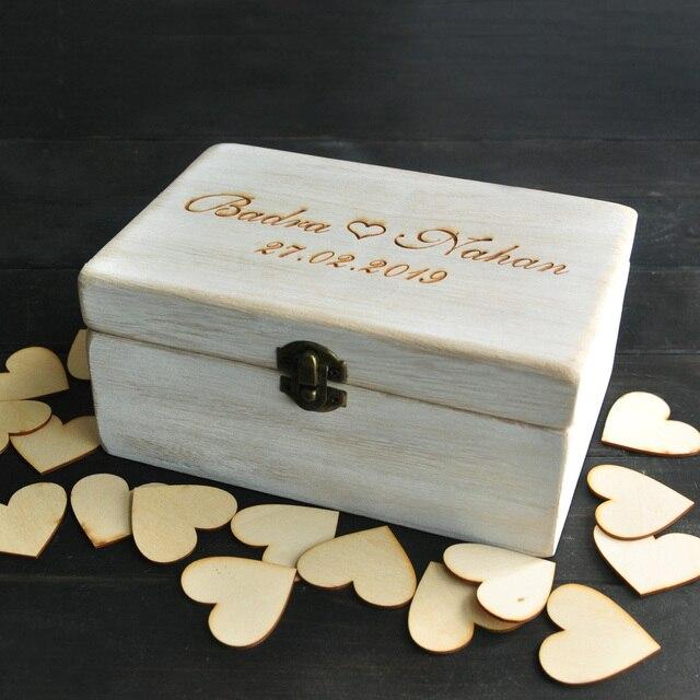 Boda personalizada caja de recuerdo, alternativa libro de invitados ...