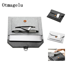 "Soft Bussiness Wool Felt Sleeve Bag Case For Apple Macbook Air Pro Retina 13 14 15 15.6 Laptop For Mac book 11"" 12"" Tablet Bag"