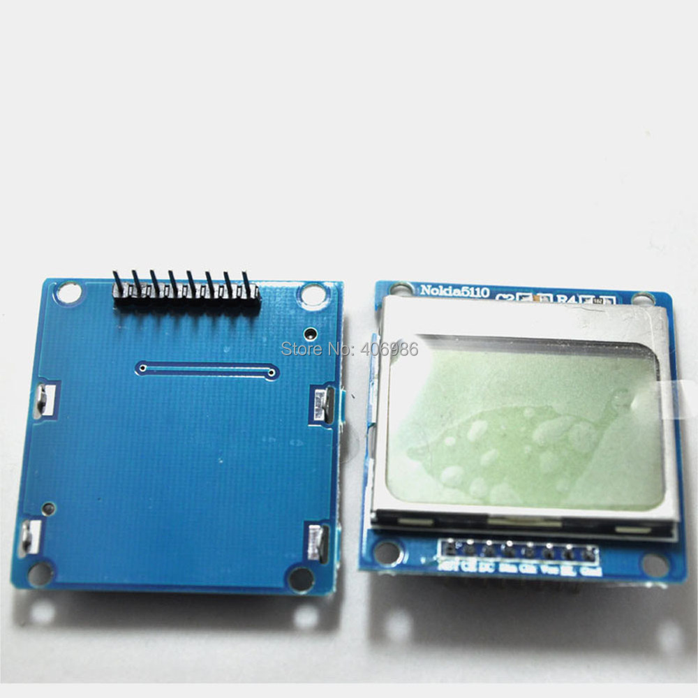 Nokia 5110 lcd module monochrome display screen 84 x 48 for arduino - 5pcs Lot For Nokia 5110 Lcd Module Sensor Display Screen Lcd5110 Monitor For Arduino Blue In Lcd Modules From Electronic Components Supplies On