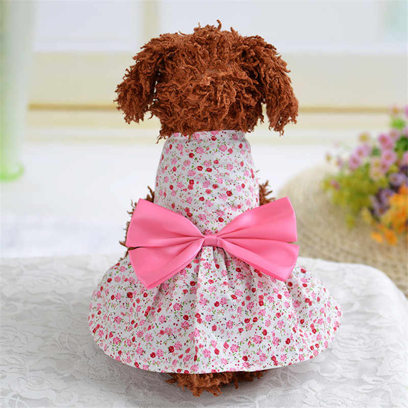 106629576eded Cute Delicate Lattice Style Summer Pet Dog Dresses Clothes For Spring  Summer Clothes Puppy Skirt XS-XL