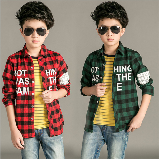 Novatx nuevo 2017 niños camisetas niños de la manera muchachos camisa a cuadros otoño de manga larga de algodón bebé ropa del muchacho muchachos tops casuales
