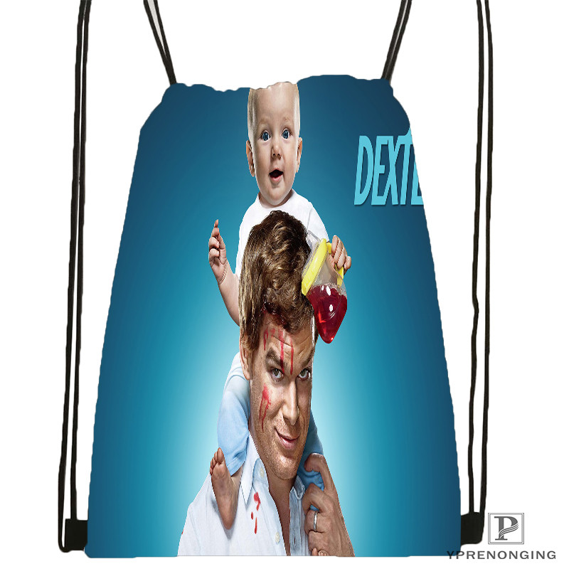 Custom Dexter_cosplay_blood_wings  Drawstring Backpack Bag Cute Daypack Kids Satchel (Black Back) 31x40cm#20180611-02-73