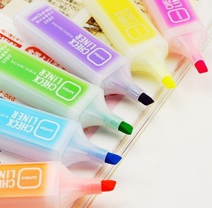 6261 large capacity candy color neon pen prize scrub bar marker pen