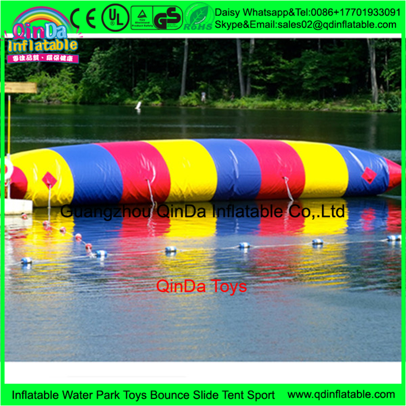 Giant 12m*3m inflatable water jumping pillow,Water Catapult Blob island float air bag for custom pool floats inflatable jumping pillow inflatable water blob jump inflatable water catapult blob