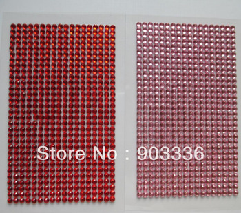 3mm 558pcs/sheet self-adhesive crystal stickers For scrapbooking stickers Diary mobile phone stickers wholesale Free Shipping