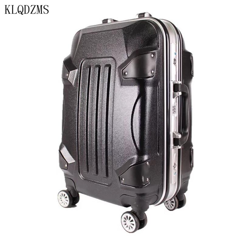 KLQDZMS 20/24 inch ABS students spinner trolley suitcase  creative Travel luggage rolling suitcase women business Boarding box