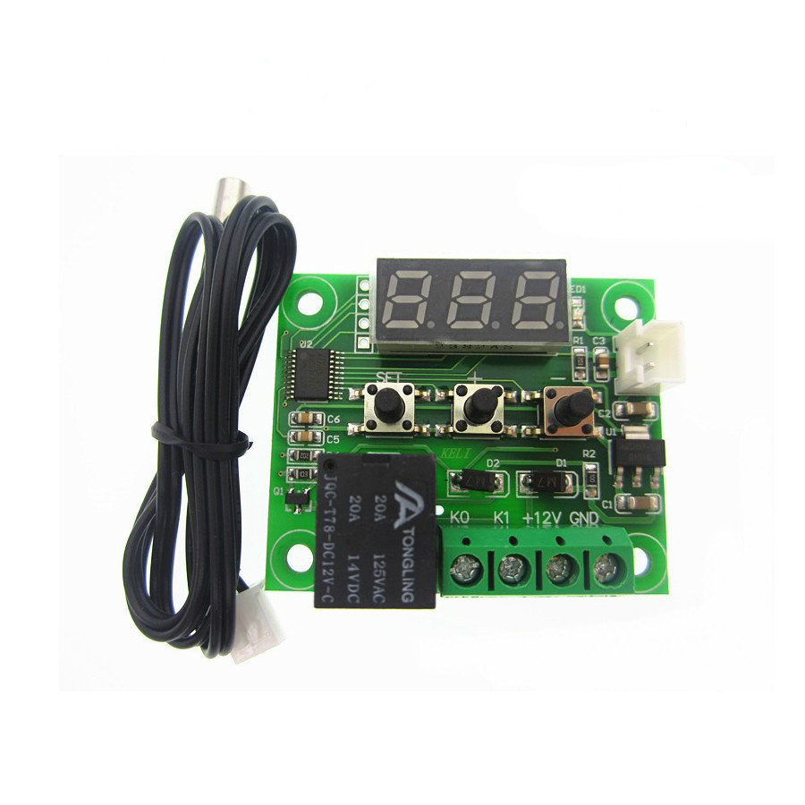 3PC W1209 Digital LED Heat Cool Temp Thermostat Temperature Control Switch Module On/Off Controller Board DC 12V + NTC Sensor dc 12v led display digital delay timer control switch module plc automation new