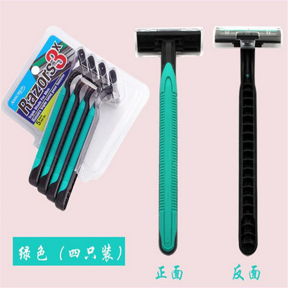 3 Layers Blades Disposable Razor Sharpening Manual Disposable Shavers Stainless Steel Blade Razor 4Pcs/lot