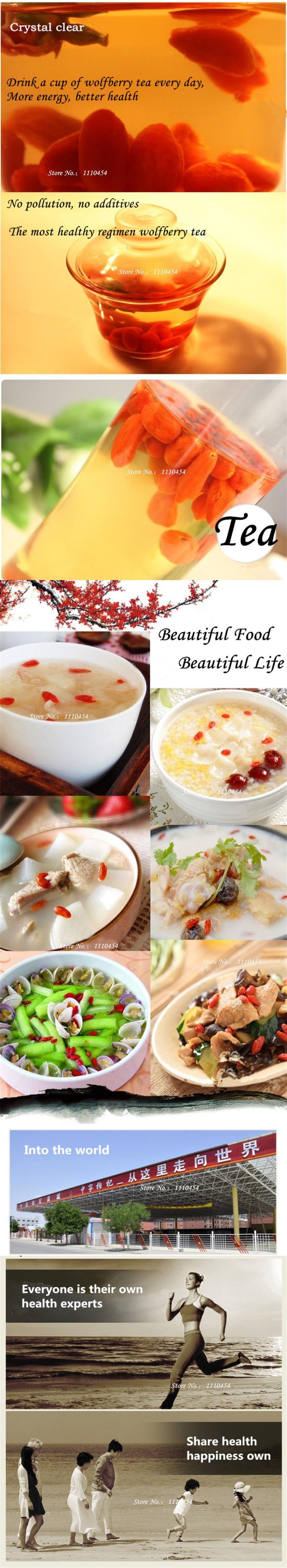 C-TS066 Natural goji ning xia zhong ning goji berry 100g Chinese wolfberry goji berries herbal Tea green food for health
