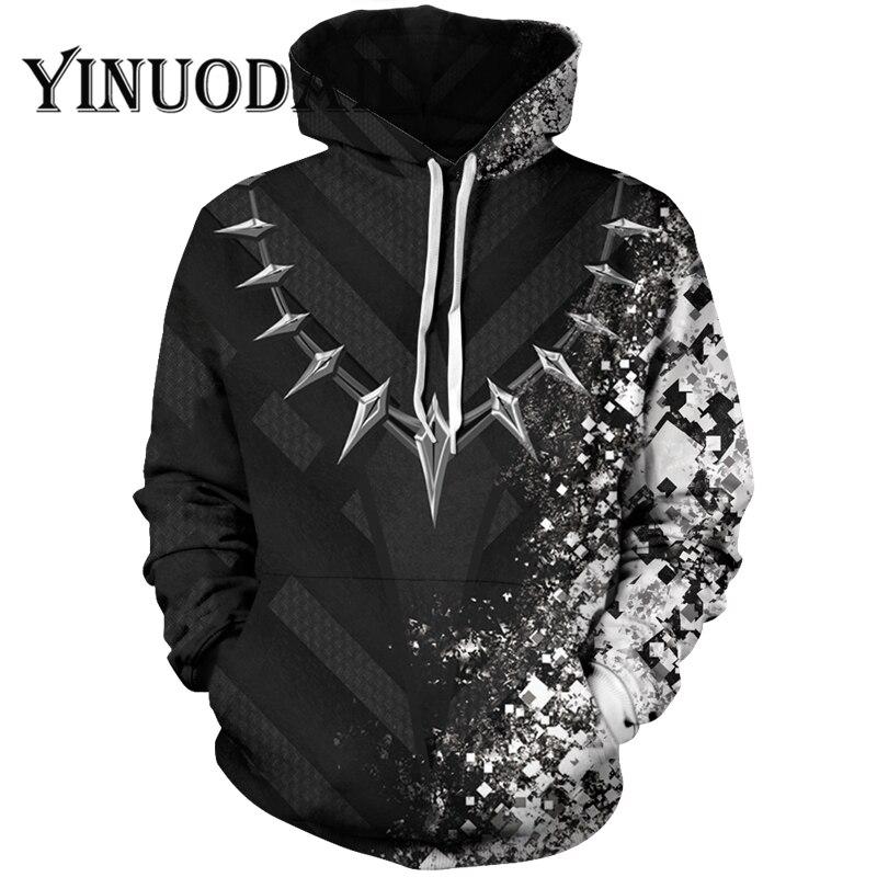 Ventilateurs Porter 3D sweats à capuche imprimés de Fuite Panthère Noire sweatshirt à capuche unisexe