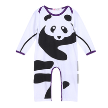 0-18 Month Newborn Baby Long Sleeve Lovely Panda Print Romper Fashion Casual Boys Girls Cotton Romper One-piece Jumpsuit