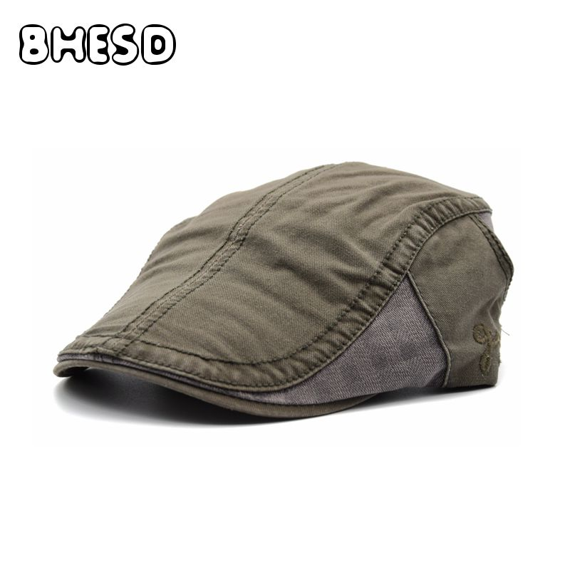 14b138b785f BHESD 2017 Army Green Beret Cap Men Women Cotton Flat Caps Cotton Artist  Beret Hat Male Peaked Cap Casquette Bones Gorro JY-554