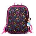 Delune яичной скорлупы милый школьный рюкзак для девочек Дышащий водонепроницаемый Ортопедические школьные сумки для девочек нейлон школьный 1-3 Классов