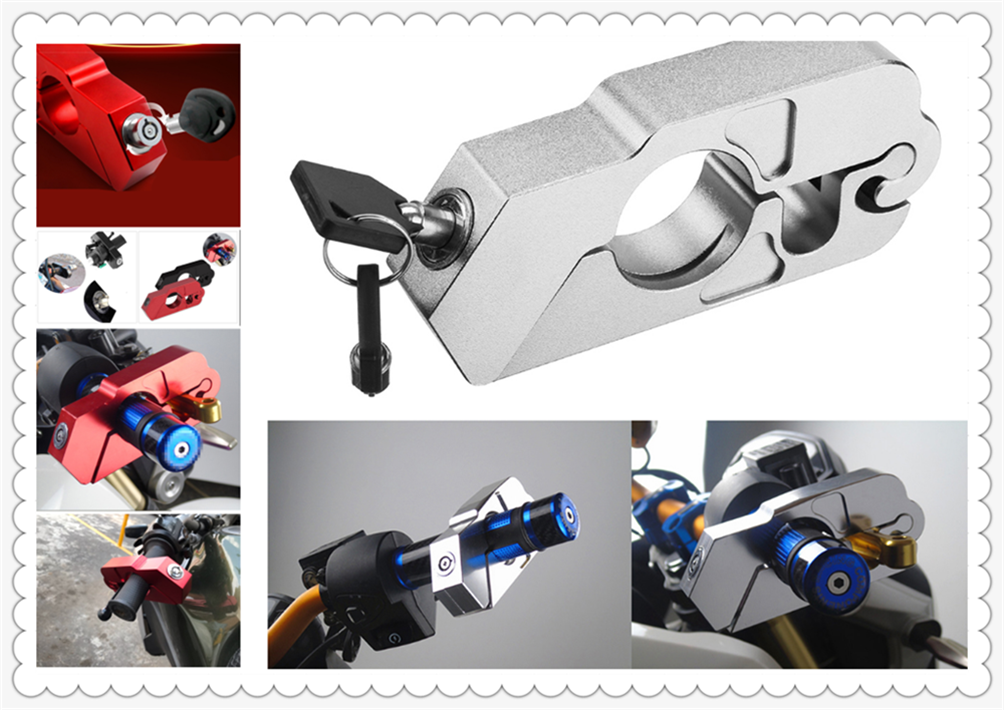 Motorcycle ATV Aluminum Alloy Anti-theft Security Lock Handle Brake For BMW K1600 GT GTL R1200GS R1200GS ADVENTURE R1200R
