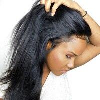 360 Синтетические волосы на кружеве al парик предварительно сорвал с ребенком волос полный бразильский Прямо Синтетические волосы на кружеве