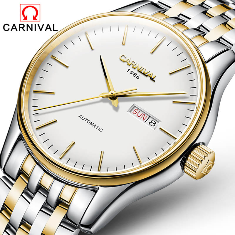 Mechanical Watch Men Automatic Self-wind Stainless Steel Watches Leather Business Automatic Watch Water Resistant relojes hombre seagull pvd with stainless steel self wind 3 hands exhibition back automatic men s business watch m149sk