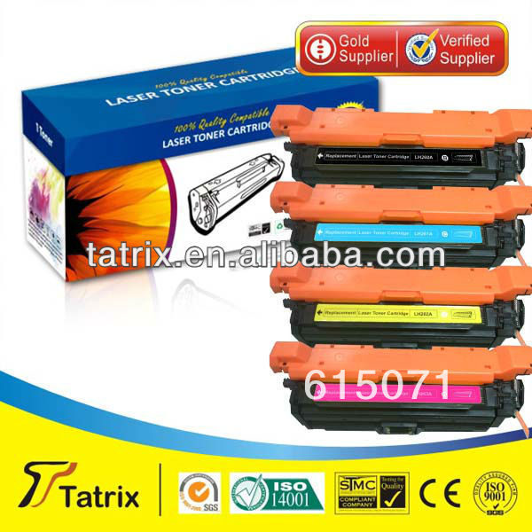 ФОТО FREE DHL MAIL SHIPPING. For HP CE262A Toner Cartridge ,Compatible CE262A Toner