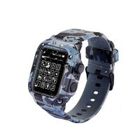 YUKIRIN Camouflage Waterproof Sport Silicone Suit Band Case For Apple Watch Series 4 Wrist Strap Buckle for iwatch 44mm