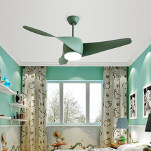 Nordic 42 inch macaron ceiling fans lamp modern simple living room restaurant remote control spiral three fan leaf
