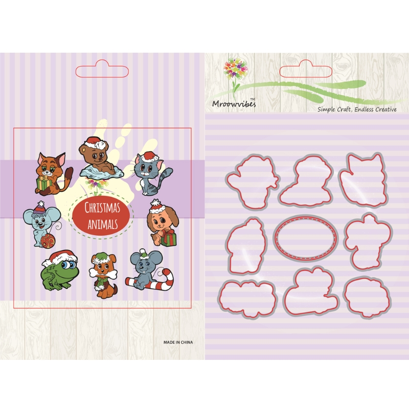 Clear Stamps Scrapbooking Accessories Animal Assemblage Stamp+Metal Cutting Dies Stencil Frame Scrapbook Album Decor pig silicone clear stamp metal cutting dies stencil frame scrapbook album decor clear stamps scrapbooking accessories