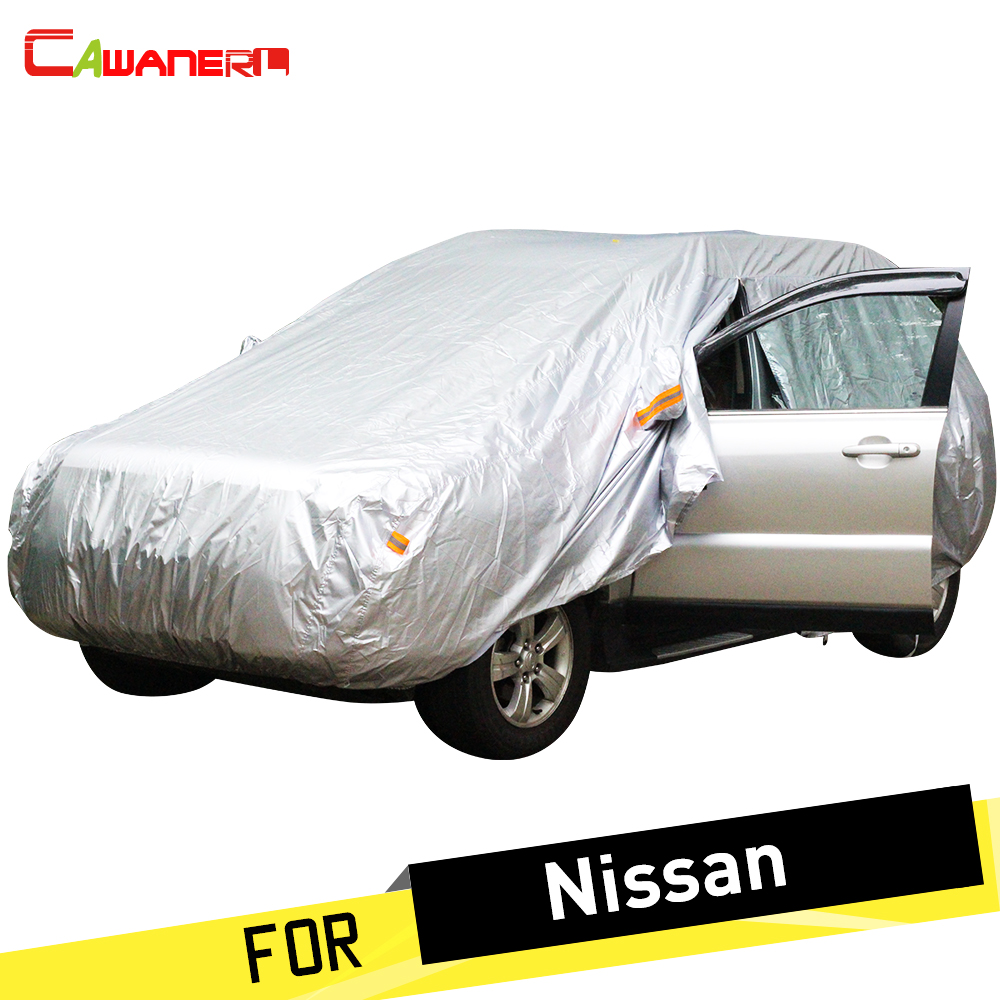 Cawanerl Car Cover SUV Anti UV Rain Sun Snow Resistant Dust Proof Cover For Nissan X-Trail Tiida Cima Qashqai Pathfinder Sunny
