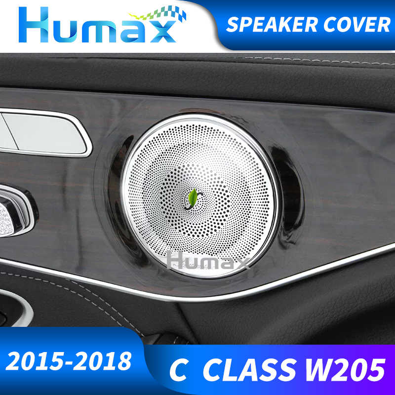 Для класса C w205 3D Динамик Burmester звуковой динамик Burmester вращающийся ВЧ Крышка 2016 + 3D поворотный крышка динамика