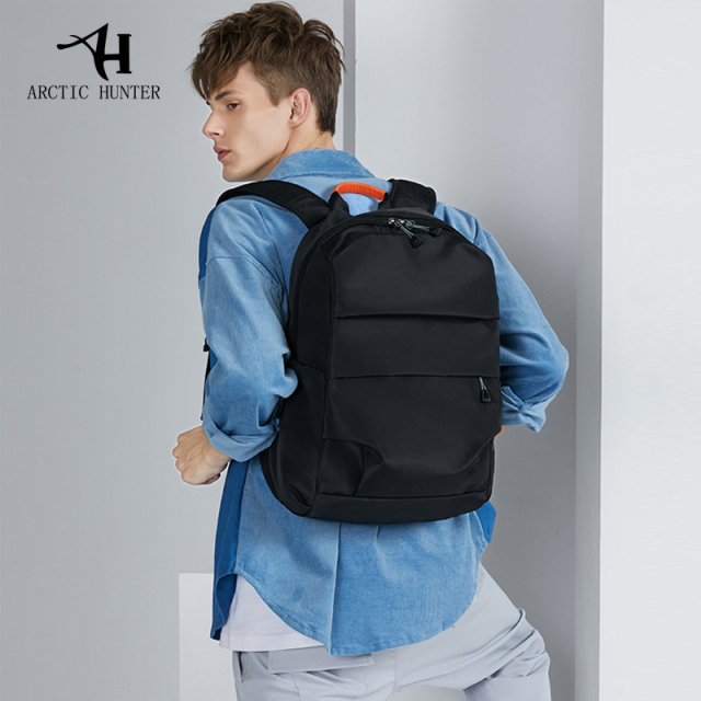 ec58d4cb1dc2 US $33.55 45% OFF|ARCTIC HUNTER New large capacity backpack men's simple  shoulder bag computer bag fashion travel bag college student bag male-in ...