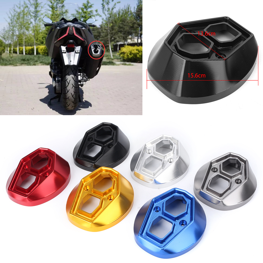 CNC Aluminum Motorcycle Exhaust Pipe Power Tip End Decor Protect Cover For KYMCO AK550 2017 2018