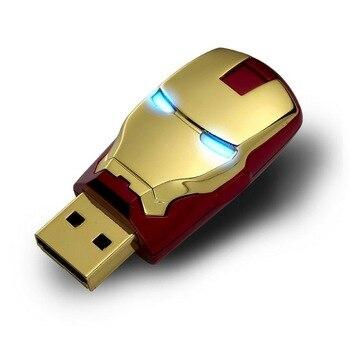 The Avengers 16GB 32GB 64GB Iron Man USB Flash Drive 512GB 1TB 2TB Memory Stick Usb Stick Pen Drive External Storage Pendrive