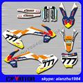 Arañazos motocicleta roja 3 m equipo toro fondo etiquetas etiquetas gráficos kits de orange para ktm sx65 sx 65 2016 año